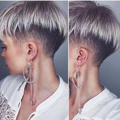 Pin on Hair and beauty Undercut Hairstyles, Pixie Hairstyles, Pixie Haircut, Cool Hairstyles, Short Hair Tomboy, Short Grey Hair, Short Hair Cuts, Edgy Short Haircuts, Short Hairstyles For Women