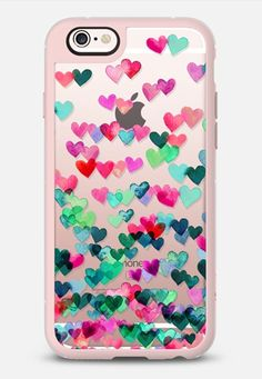 Heart Connections 2 - variation - pink, teal, emerald green iPhone 6s case by Micklyn Le Feuvre | Casetify