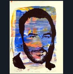 Portrait of Tom Ford 2013/528 Acrylics on paper by Daniel Pultorak #art