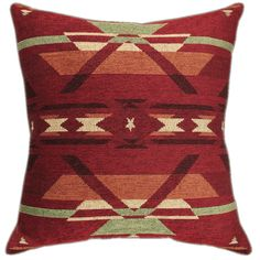Flame Tapestry Chenille Pillow - 20 x 20