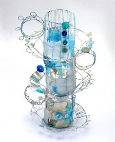 I would love to introduce the contempoary, mixed-media, textile artist Priscilla Jones . Priscilla creates stunning and sculptures fr. Key Stage 3, Textile Artists, Wire Art, Sculpture Art, Wire Sculptures, Mixed Media Art, Altered Art, Unique Art, Collage Art