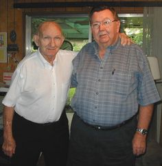 Daddy (Roy) and his younger brother, Donnie Mowdy.  Taken May 2001.