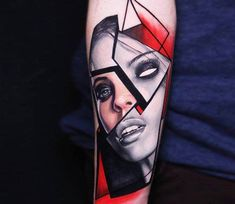 Girl Face tattoo by Dave Paulo