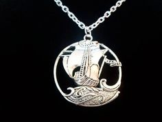 Back by popular demand at a new lower price. The pendant reminds me of the Dawn Treader from The Chronicles of Narnia. This necklace would make a great gift for anyone that loves The Chronicles of Narnia. Chain length approximately 20 inches. Narnia Jewelry, Book Jewelry, Fantasy Jewelry, Etsy Jewelry, Jewelry Ideas, Diamond Necklace Set, Stone Necklace, Marquise Diamond, Diamond Heart
