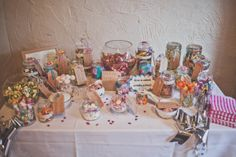 Colourful Homemade Wedding Sweetie Table http://www.sallytphotography.com/
