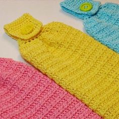 Easy Kitchen Towel Topper Crochet Pattern Crochet Dish Towel | Etsy Crochet Dish Towels, Crochet Towel Topper, Crochet Kitchen Towels, Knit Kitchen Towel Pattern, Cotton Crochet, Easy Crochet, Free Crochet, Crochet Things, Beginner Crochet