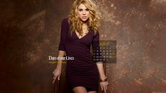 Celebrate July and our character of the month -- Abigail Deveraux! Kate Mansi, 2013 Calendar, Days Of Our Lives, Daughter, Celebrities, Life, Soaps, Dresses, Opera