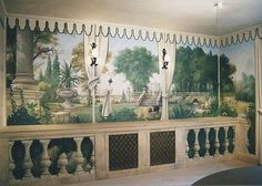 Ian Cairnie Landscape Mural Samples Painting Wallpaper, Mural Painting, Wall Wallpaper, Decoration, Art Decor, Tent Room, Wall Murals, Wall Art, Grisaille