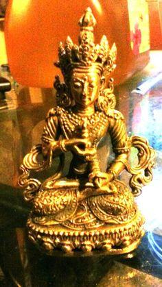 "Vajrasattva Statue for Dharma in Nepal, Tibet 3"" High"