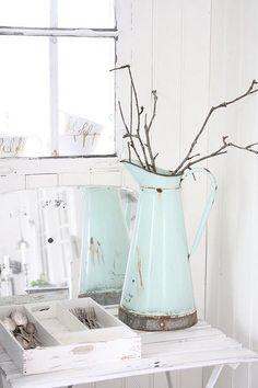 white and light aqua