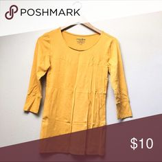 NWOT Mustard Top New without tags 3/4 Sleeve mustard top, purchased from a local boutique and never worn. Very soft and beautiful!  ✅Price Firm Unless Bundled ✅Ask About Bundle Special 4 Items $10 & Under 🚫Trades 🚫Off-Posh 🚫Modeling Modbe Tops