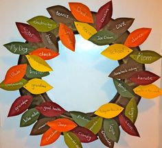 Thanksgiving craft -> leaves = what everyone is thankful for