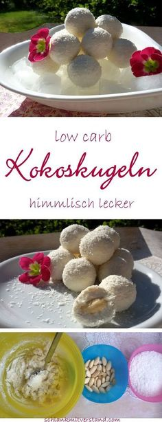 Kokoskugeln low carb Köstlichkeit Creamy coconut balls low carb These low carb coconut balls are filled with an almond and … Paleo Dessert, Healthy Dessert Recipes, Low Carb Desserts, Healthy Sweets, Keto Snacks, Low Carb Recipes, Cake Recipes, Vegan Recipes, Diabetic Recipes