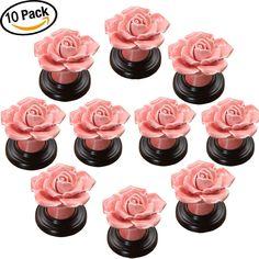 Ningmi 10pcs Polka Dot Ceramic Knobs Kitchen Bath Cabinet