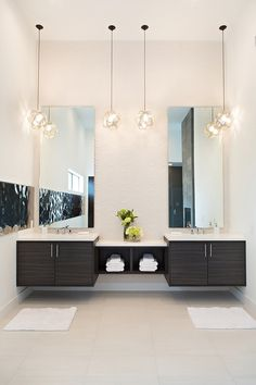 Bathroom Double Sink Lighting Ideas i like the light idea above the recessed area. could put some