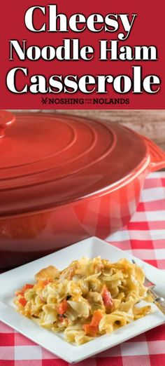 This easy and comforting Cheesy Noodle Ham Casserole can me made at anytime of the year! Slow Cooker Casserole, Ham Casserole, Casserole Dishes, Casserole Recipes, Easy One Pot Meals, Quick Easy Meals, Orzo Pasta Recipes, Best Casseroles, Side Dishes Easy