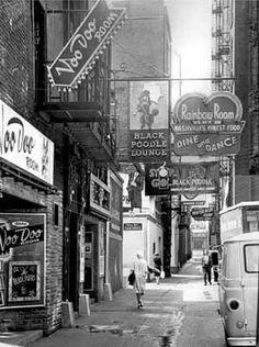 nashville history photos | Printers Alley in Nashville, Tennessee