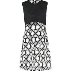 Black & White Popover Shift Dress