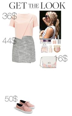 """""""Get the Look: Weekend Style Under $150 Contest"""" by eliza-redkina ❤ liked on Polyvore featuring Zara, J.Crew, Miss Selfridge, Candie's, Clinique, Too Faced Cosmetics, Rimmel, Essie and Guerlain"""