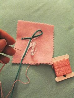 stiched letter technique.