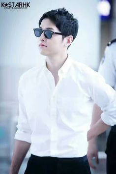 Oppa...white suits you
