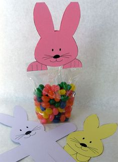 Bunny Treat Bag ~ fasten to bag with staples which make the claws on the paws  =) super cute