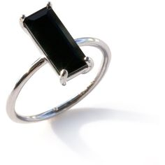 Black Onyx Silver Ivy Ring (3,930 INR) ❤ liked on Polyvore featuring jewelry…