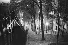Paris's Montmartre neighborhood at night