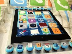 Cool iPad Cake!  Madison wants this as her birthday cake this year