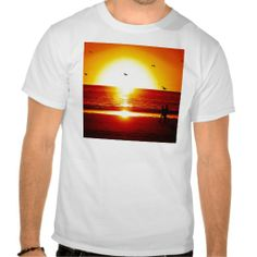 Walking on the Beach at Sunset With Bird Tee Shirts This DealsHere a great deal...