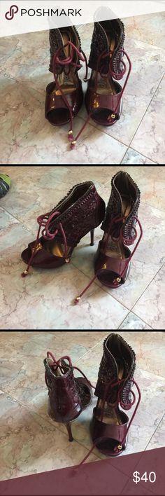 Promise burgundy heels! Promise burgundy heels! Look amazing on size 7.5 promise Shoes Heels