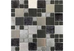 These stunning Glass Bathroom and Kitchen tiles are a mixture of glass and metal and are perfect for creating the ultra modern look in your home. They can also be cut down into borders to add a little design to your bathroom. Just £9.49 per sheet.