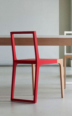 #furniture #chair #design #simple #red #minimal