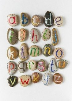 Alphabet. Would be really fun to make uppercase, lowercase and something that starts with that letter.