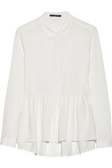 Tibi Savanna crepe peplum blouse | NET-A-PORTER