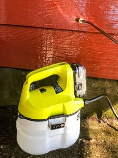 Spray the diluted TSP mixture onto the aluminium siding with a chemical sprayer. Outdoor Projects, Diy Projects, Outdoor Decor, Garden Hose, Garden Beds, How To Clean Aluminum, Seattle Rain, Sparkling Clean, Plastic Sheets