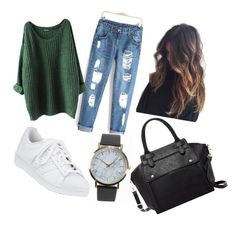 """Autommn 🌀"" by noemie-coutadeur on Polyvore featuring mode, Pink Haley, NLY Accessories et adidas"