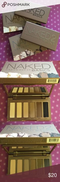 NEW $18 each NAKED Basics Eyeshadow NEW $18 each NAKED Basics Eyeshadow.  NAKED Basics palettes are venus, foxy, walk of shame, naked 2, faint & crave.  NAKED 2 Basics palettes are skimp, stark, frisk, cover, primal & undone.  GUARANTY ALL PRODUCTS ARE NEW AND UNUSED IN THIS POSTING. Anastasia Beverly Hills Makeup Eyeshadow
