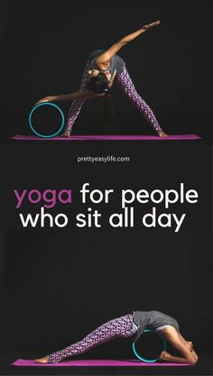 yoga for people who sit all day, online yoga videos #yogaaftersittingallday