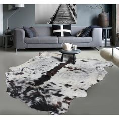 Cowhide Rug Extra Large Brown And White African Cow Hide Dog Proof Durable This Is Great In Any High Traffic Rooms Your Home Product