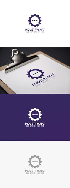 Chat Gear Logo Template AI, EPS
