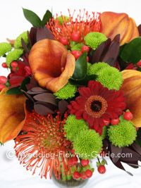 autumn bridal bouquet-article on seasonal flowers for fall bridal bouquets...I love this one!