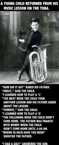 Tuba Humor. 25 Jokes On Musicians Making Fun Of Musicians [Part 1] tuba players never get enough credit hahaha