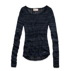 Girls Ocean Beach Lace Back Sweater