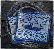 Ravelry: Fiskelykke pattern by Jorunn Jakobsen Pedersen Double Knitting, Pot Holders, Ravelry, Elsa, Knit Crochet, Crochet Patterns, Reusable Tote Bags, Projects, Design