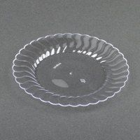 $25 Fineline Flairware 206-CL Clear 6 inch Plastic Plate 180 / Case & Fineline Savvi Serve 306 6\