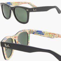 RAY BAN WAYFARER RARE PRINTS NYC METRO Sunglasses - RB2140 1028 (50mm)