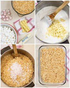 If you love Rice Krispie treats you are going to love these White Chocolate and Peppermint Rice Krispie Treats! They are crunchy, chewy, sweet, and delicious with the added flavor of peppermint and creaminess of white chocolate! Delicious Cookie Recipes, Yummy Cookies, Bar Recipes, Family Recipes, White Chocolate Chips, Chocolate Chip Cookies, Rice Krispie Treats Variations, Winter Treats, Peppermint Candy