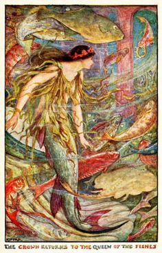 Illustration by H. J. Ford for Andrew Lang's The Orange Fairy Book - Mermaids in popular culture - Wikipedia, the free encyclopedia