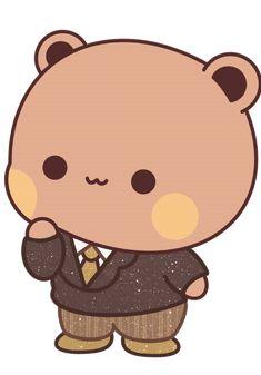 Chibi Cat, Cute Chibi, Cute Love Cartoons, Cute Cartoon, Mochi, Bear Gif, Cute Bear Drawings, Animated Love Images, Magical Images